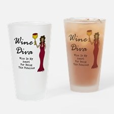 The Wine Diva - Wine Is My Award Fo Drinking Glass