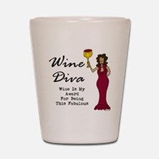 The Wine Diva - Wine Is My Award For Be Shot Glass