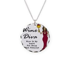 The Wine Diva - Wine Is My A Necklace