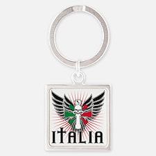 Italian Pride Square Keychain
