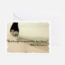 And though she be but little, she is Greeting Card