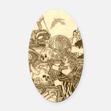 Woodland Woman Oval Car Magnet