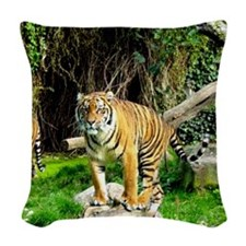 Ready for success Tiger Woven Throw Pillow