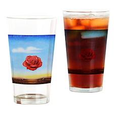 Meditative Rose Drinking Glass