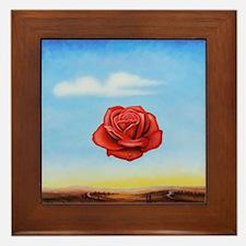 Meditative Rose Framed Tile