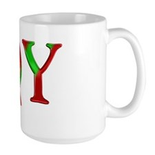 Cardinal Joy Christmas Mug