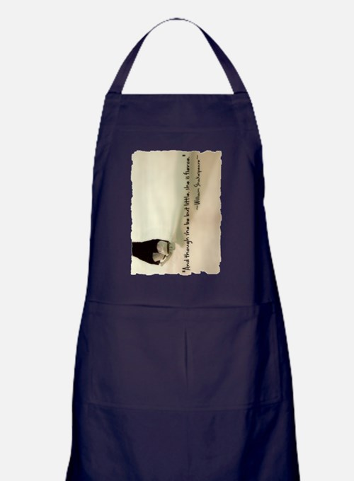And though she be but little, she is  Apron (dark)