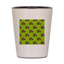 Cute Angry Brown Dog Shot Glass