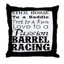 Barrel Racing Passion Throw Pillow