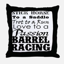 Barrel Racing Passion Throw Pillow