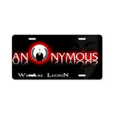 Anonymous 99% Occupy t-shir Aluminum License Plate