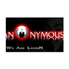 Anonymous 99% Occupy t-shirt Rectangle Car Magnet