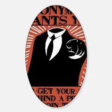 Anonymous 99% Occupy t-shirt Sticker (Oval)
