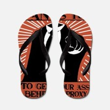 Anonymous 99% Occupy t-shirt Flip Flops