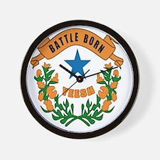 Battle Born YEESH Logo Wall Clock