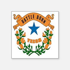 "Battle Born YEESH Logo Square Sticker 3"" x 3"""