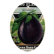 EGGPLANT - Large Purple Mulignani cr Oval Ornament