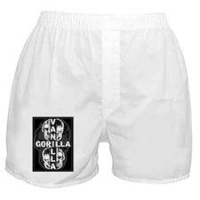 4 skull black   gray Boxer Shorts