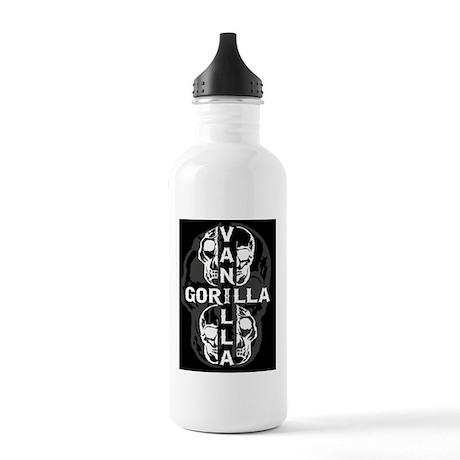 4 skull black gray Stainless Water Bottle 1.0L