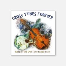 "Cross Tunes Forever 2 Square Sticker 3"" x 3"""