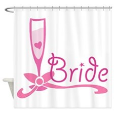 Bride Wine Glass Shower Curtain