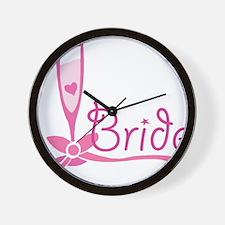 Bride Wine Glass Wall Clock
