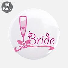"Bride Wine Glass 3.5"" Button (10 pack)"