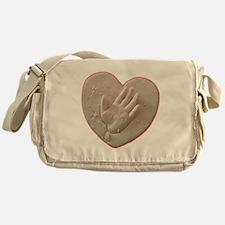 Kaylas Heart and Hand Messenger Bag