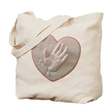 Kaylas Heart and Hand Tote Bag