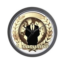 Anonymous 99% Occupy t-shirt Wall Clock