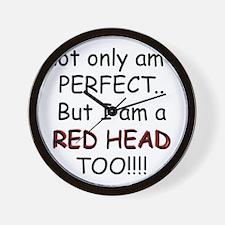 I am a red head too!!! Wall Clock