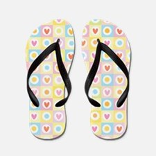 Quilted Hearts Flip Flops