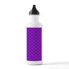 Damask Pattern Purple  Water Bottle