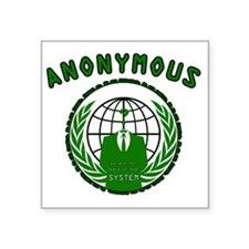 "Anonymous 99% Occupy t-shir Square Sticker 3"" x 3"""