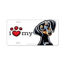 Love My Dachshund B/T Aluminum License Plate