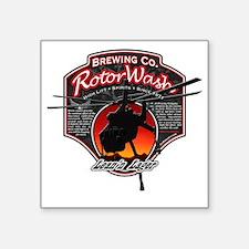 """RotorWash Brewing Co. - Lea Square Sticker 3"""" x 3"""""""