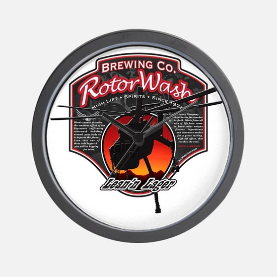RotorWash Brewing Co. - Leann Lager Sky Wall Clock