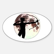 Artemis the bow hunter Oval Decal
