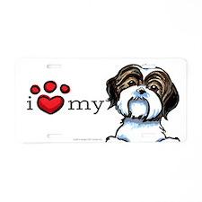 Love My Shih Tzu Aluminum License Plate