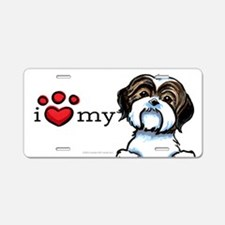 Love My Shih Tzu Aluminum License Plate