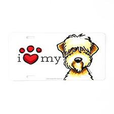 Love My Wheaten Terrier Aluminum License Plate