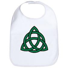 Green Celtic knot Bib