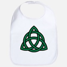 Green Celtic knot Bib