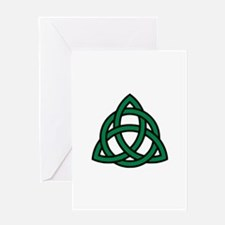 Green Celtic knot Greeting Card