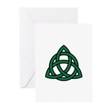 Green Celtic knot Greeting Cards (Pk of 10)