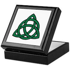 Green Celtic knot Keepsake Box