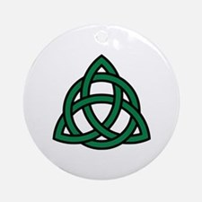 Green Celtic knot Ornament (Round)