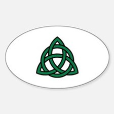 Green Celtic knot Sticker (Oval)