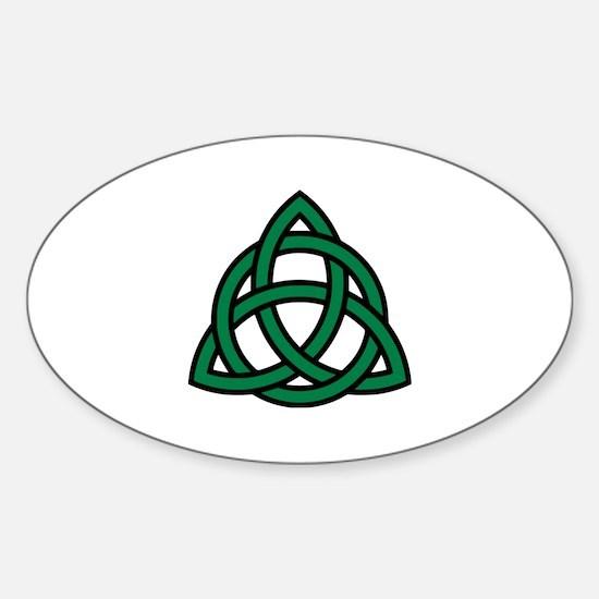 Green Celtic knot Sticker (Oval)