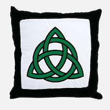 Green Celtic knot Throw Pillow